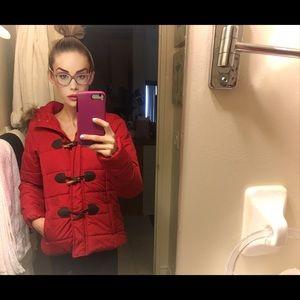Aeropostale Red Hooded Coat